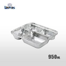 多格大4格款铝箔餐盒 950ml