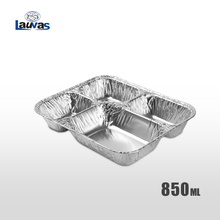 多格小4格款铝箔餐盒 850ml