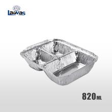 多格品3格款鋁箔餐盒 820ml