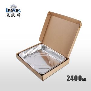 矩形320淺鋁箔套盒 2400ml